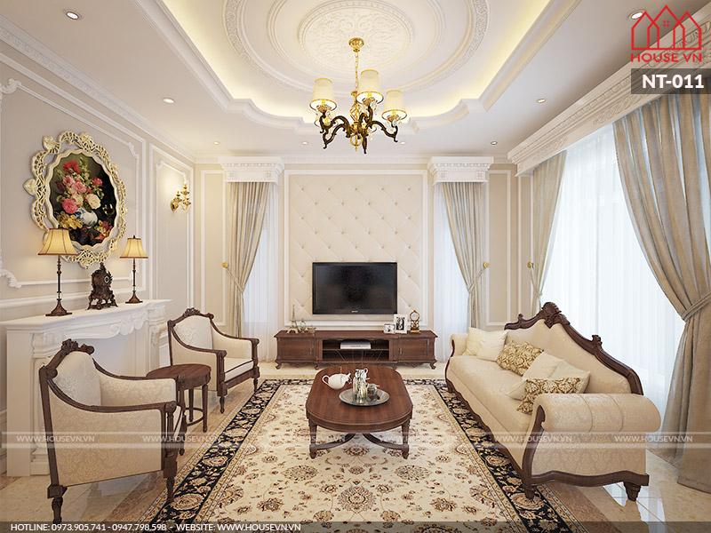 Chiêm ngưỡng thiết kế nội thất phòng khách biệt thự đẹp đẳng cấp