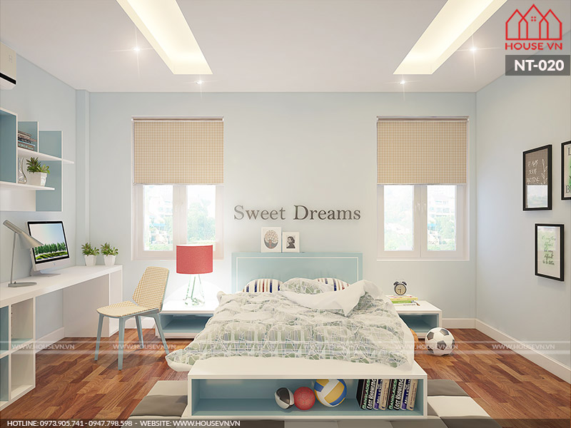 Trang trí nội thất phòng ngủ đơn giản mà đẹp cho bé yêu