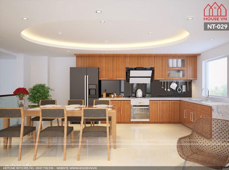 Mẫu nội thất nhà bếp đơn giản vừa gọn vừa đẹp cho nhà ống