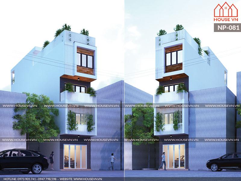 Thiết kế nhà ống 5 tầng mặt tiền 4m hiện đại đẹp thoáng