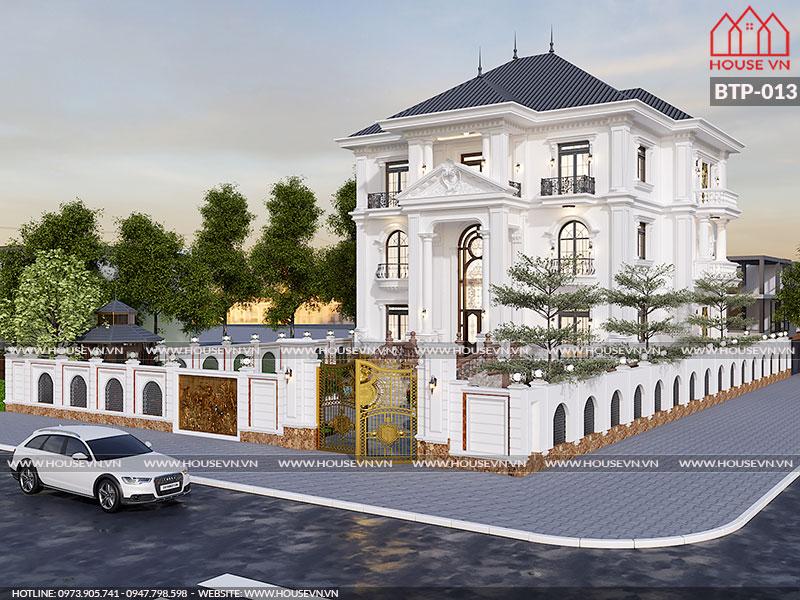 Ýtưởng thiết kế biệt thự kiểu Pháp đẹp nguy nga lộng lẫy