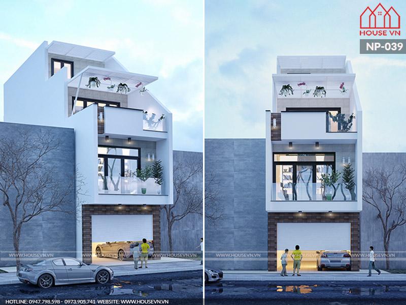 Mẫu thiết kế nhà phố 4 tầng hiện đại đẹp