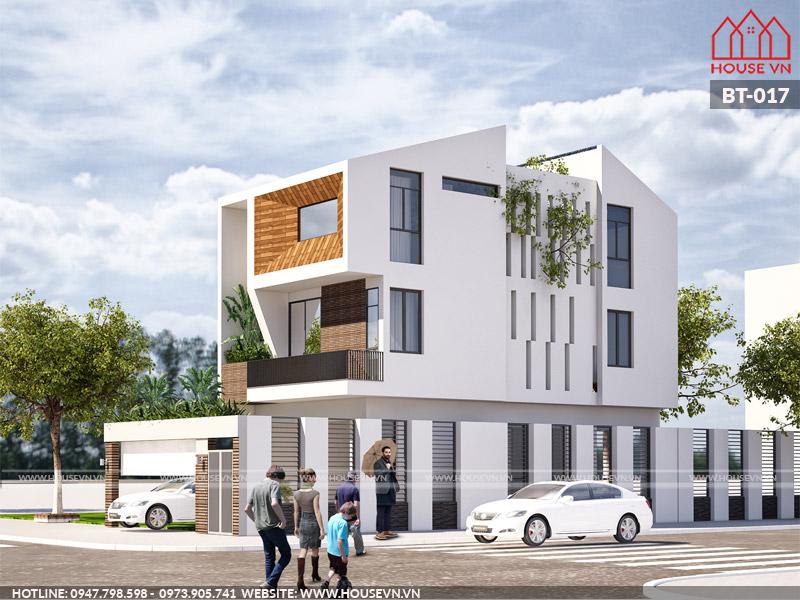 Mẫu thiết kế biệt thự 3 tầng hiện đại độc đáo