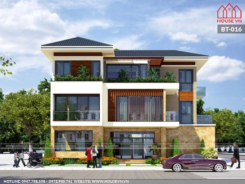 mẫu biệt thự 3 tầng đẹp hiện đại