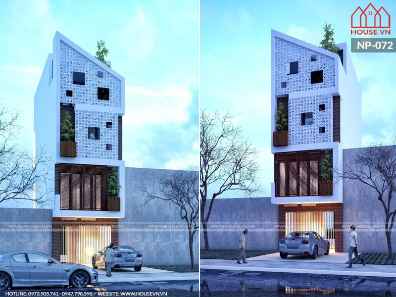 Mẫu thiết kế kiến trúc và nội thất nhà phố hiện đại 4 tầng 60m2 đẹp nhất