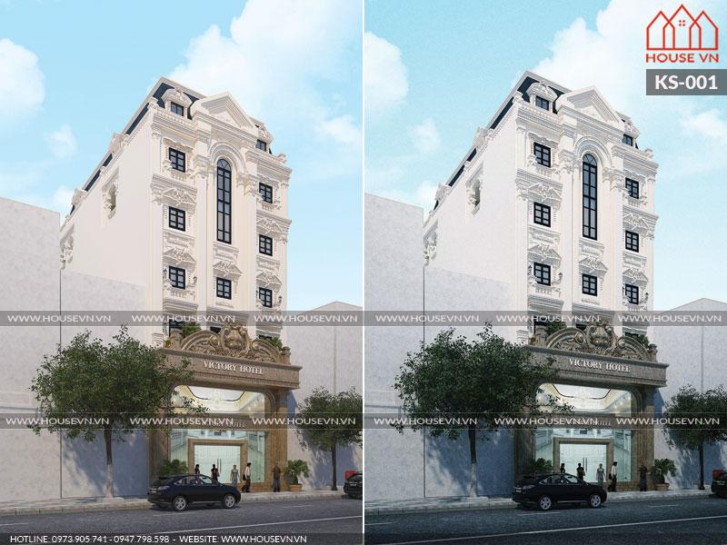 Thiết kế khách sạn Pháp tiêu chuẩn 3 sao sang trọng