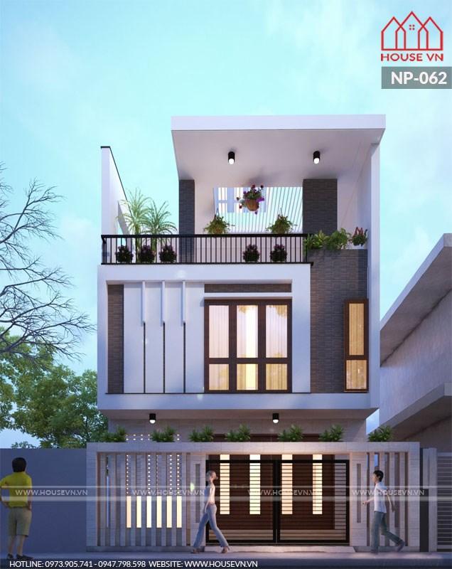mẫu kiến trúc nhà phố hiện đại đẹp tại hưng yên