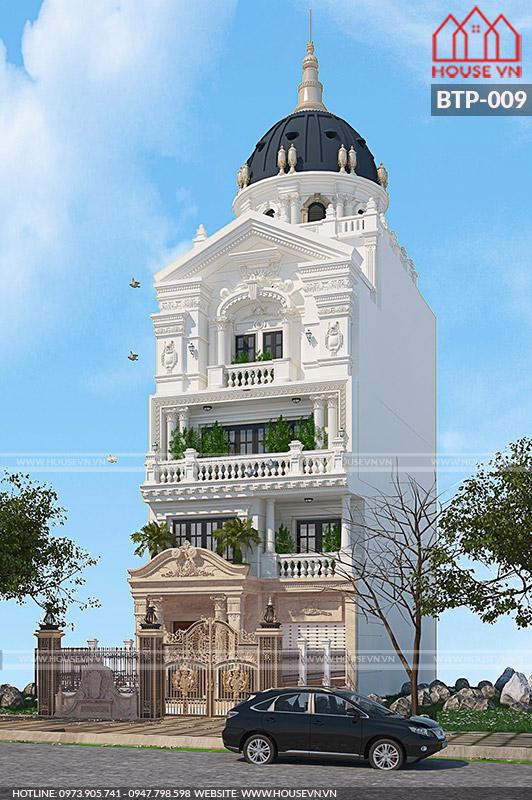 kiến trúc biệt thự mái vòm cổ điển cao cấp