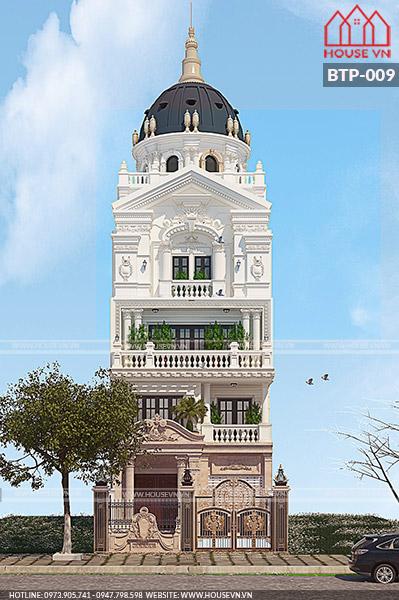 mẫu biệt thự tân cổ điển đẹp mặt tiền 9m tại Hải Phòng