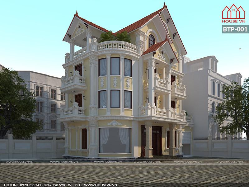 mẫu biệt thự đẹp nhất hải phòng với kiến trúc cổ điển