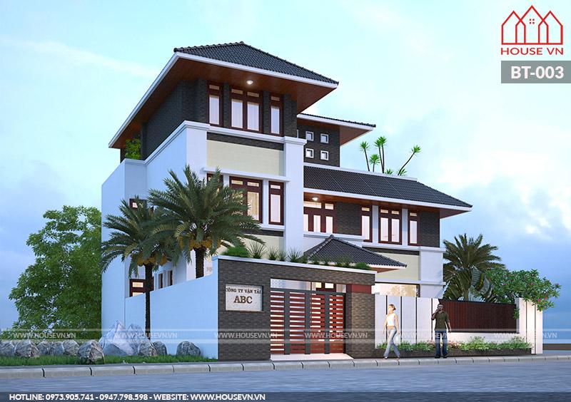 thiết kế mẫu biệt thự 3 tầng đẹp và hiện đại nhất