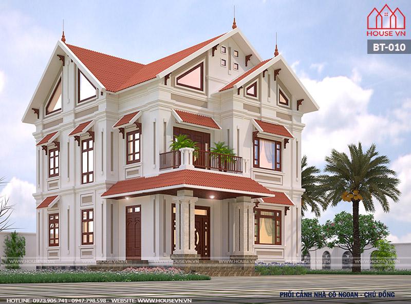 Căn biệt thự mang phong cách hiện đại nổi bật giữa vùng đất Thái Bình.