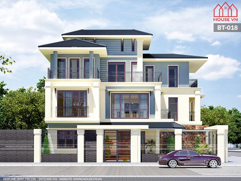 thiết kế biệt thự hiện đại 3 tầng đẹp nhất