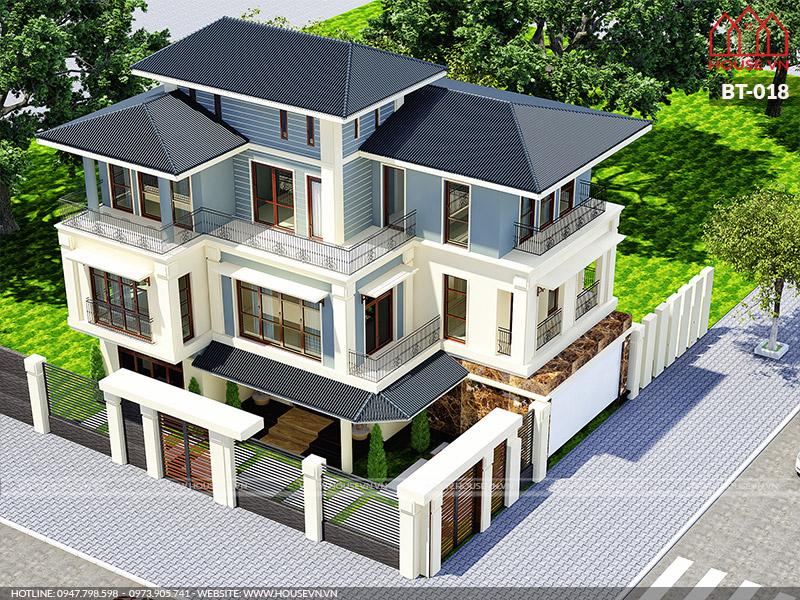 mẫu biệt thự hiện đại 3 tầng đẹp nhất