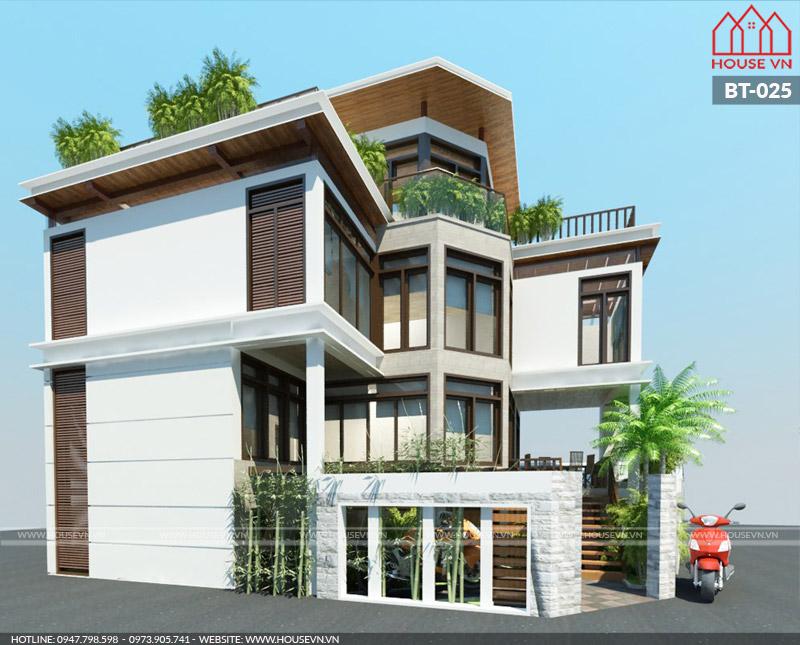 Chiêm ngưỡng mẫu thiết kế biệt thự hiện đại 4 tầng đẹp đẳng cấp