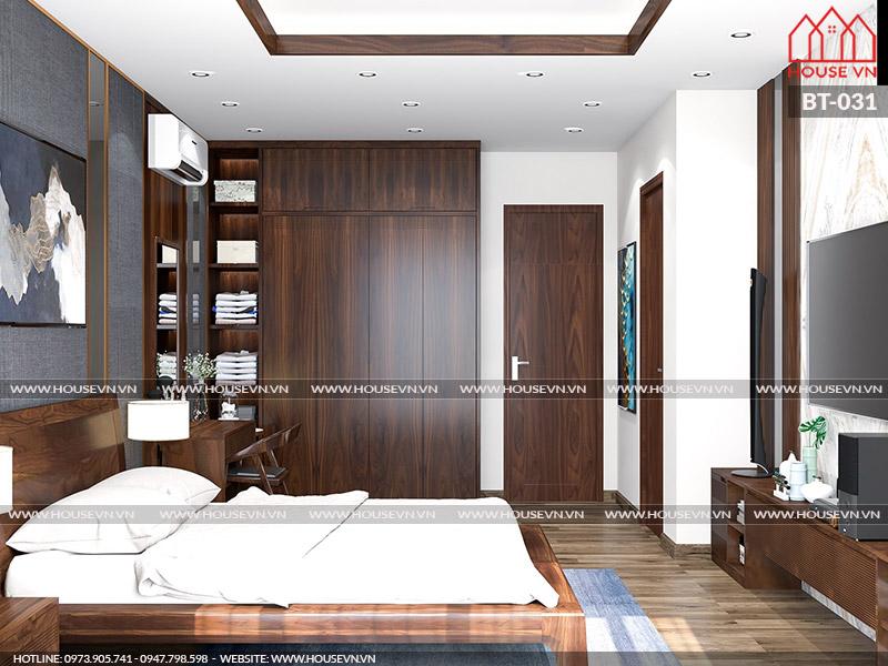 Phương án bày trí nội thất phòng ngủ đẹp ấm cúng, đủ công năng