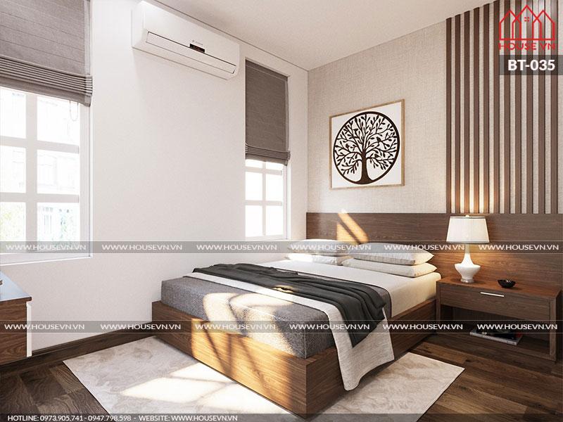 Mẫu thiết kế nội thất phòng ngủ đẹp trang nhã, nhẹ nhàng
