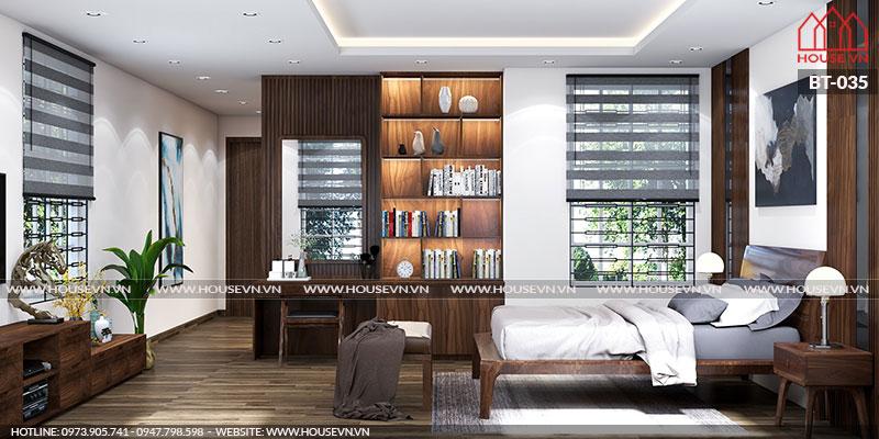 Mẫu thiết kế phòng ngủ đầy đủ ánh sáng thoáng đãng