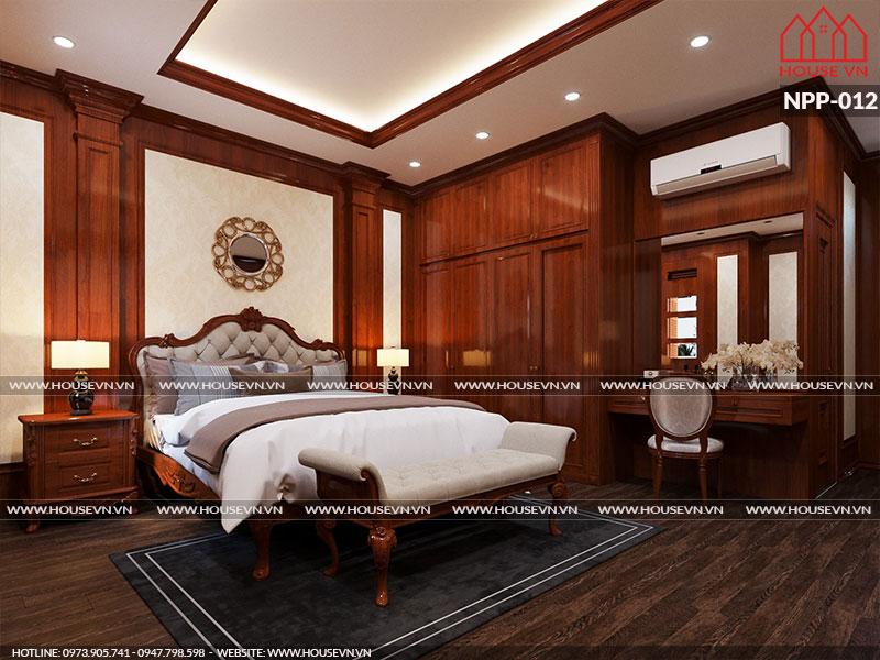 Thiết kế nhà ống kiểu Pháp với nội thất phòng ngủ cổ điển đầy đủ tiện nghi cao cấp