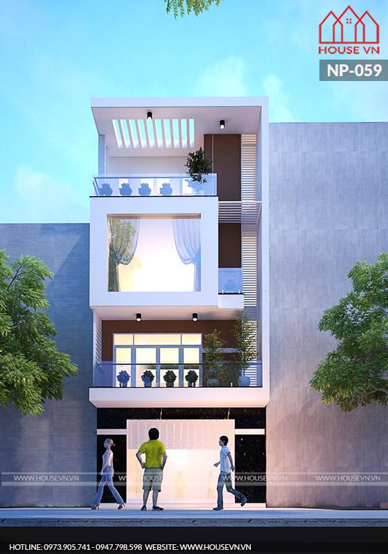 kiến trúc mặt tiền nhà phố hiện đại đẹp