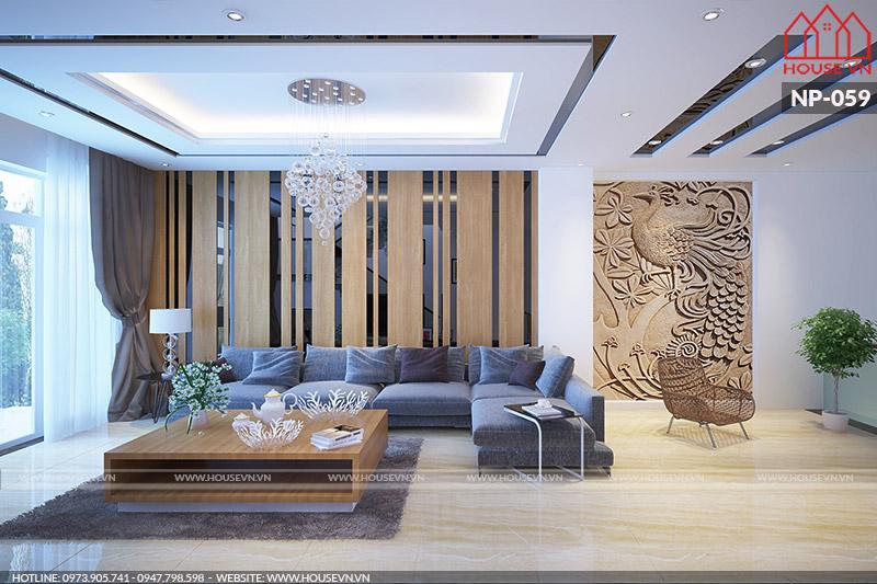thiết kế phòng khách đẹp 18m2