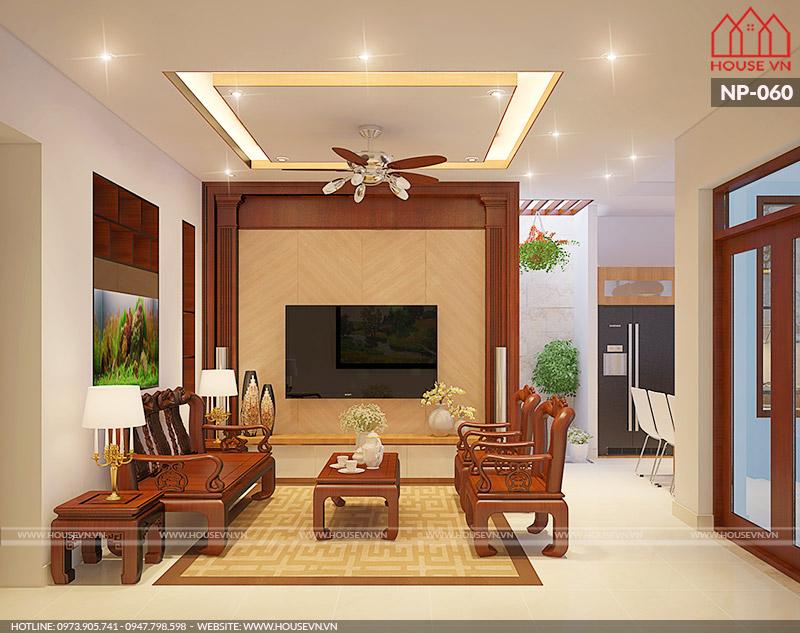 thiết kế nội thất phòng khách hiện đại nhỏ xinh