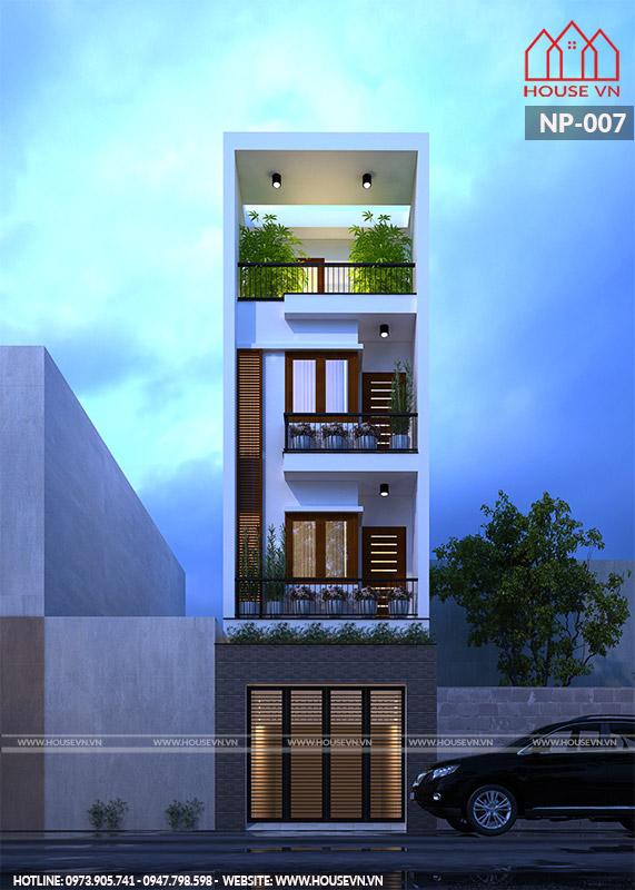 Ngôi nhà gây ấn tượng bởi phong cách trẻ trung, hiện đại và thời thượng.