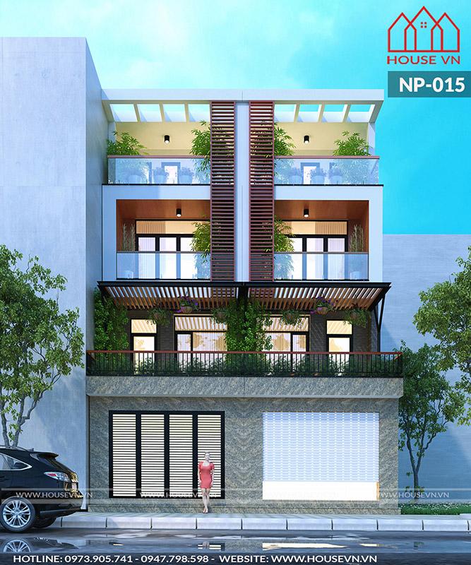mẫu nhà phố hiện đại được xây nhà trọn gói chất lượng năm 2018