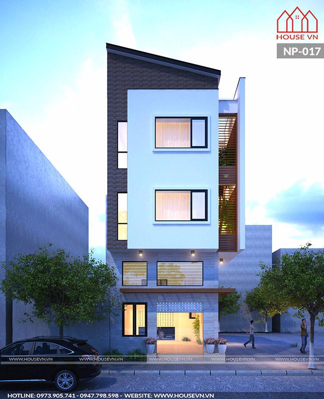 Một view ấn tượng của không gian kiến trúc ngoại thất ấn tượng của ngôi nhà.