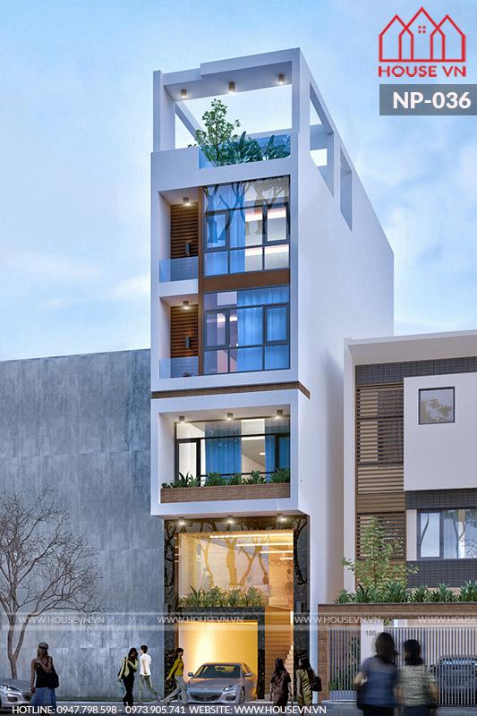 Hệ cửa kính cường lực chất lượng cao là điểm nhấn đắt giá của ngôi nhà.