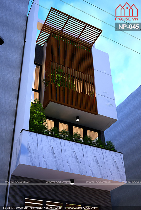 Tràn ngập cây xanh và ánh sáng là chủ ý của đội ngũ kiến trúc sư khi thiết kế mẫu nhà này.