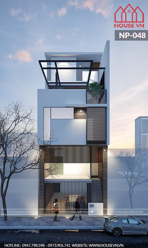 Kiến trúc hành lang độc đáo thu hút ánh nhìn.