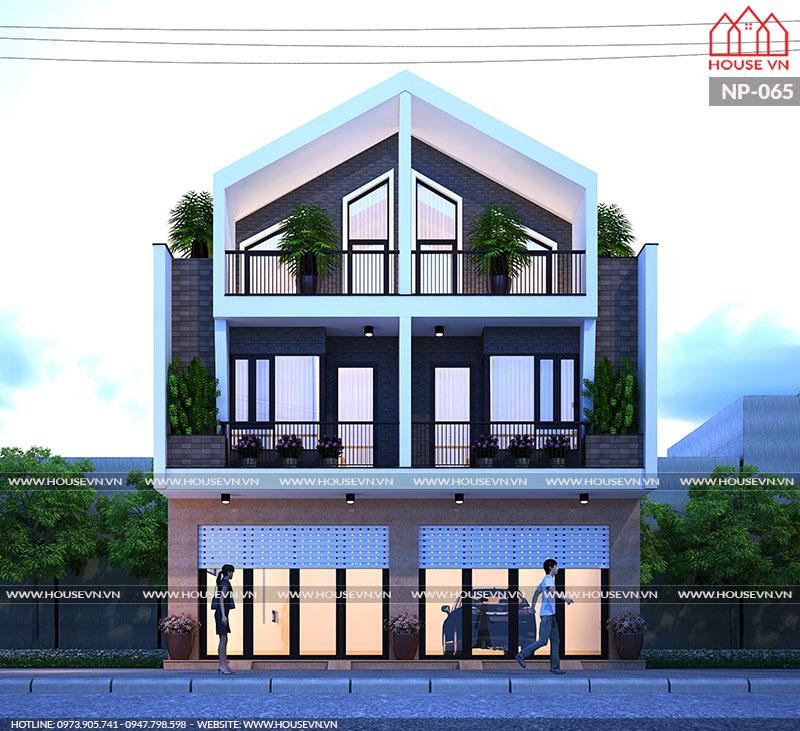 kiến trúc nhà phố song lập 3 tầng hiện đại đẹp nhất