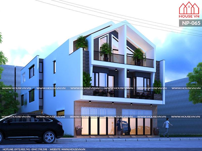 kiến trúc nhà song lập 3 tầng hiện đại đẹp tại An Lão