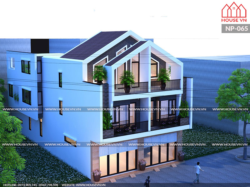 thiết kế nhà phố song lập hiện đại tại An Lão, hải phòng