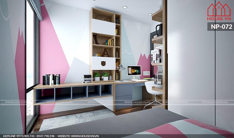 thiết kế nội thất phòng ngủ đẹp dành cho con gái