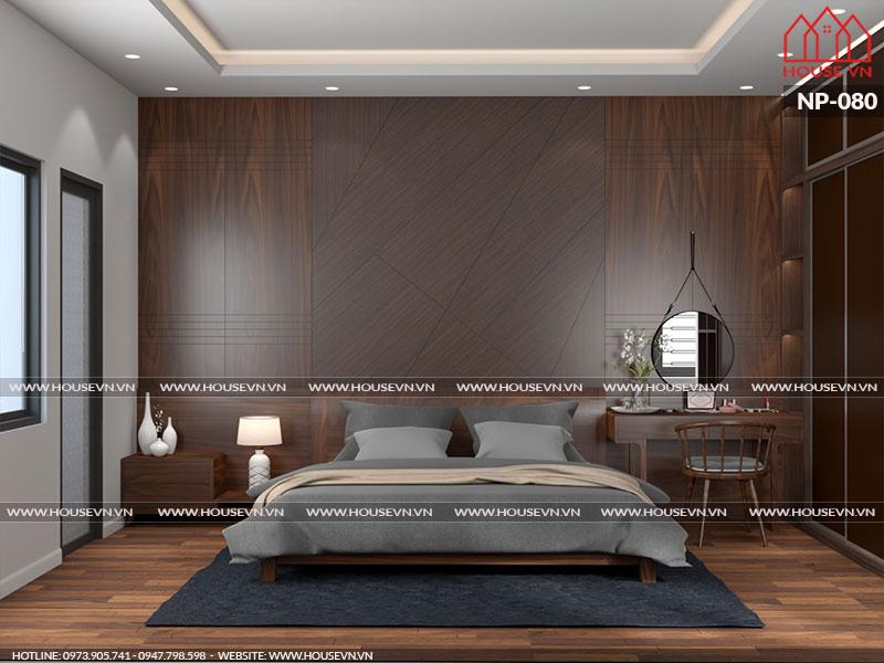 Mẫu nội thất phòng ngủ nhà phố đẹp với cửa sổ được bố trí thoáng đãng