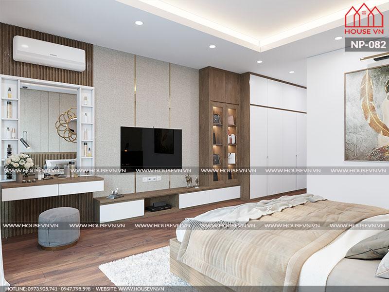 Phòng ngủ nhà ống hiện đại đẹp mang đến không gian nghỉ ngơi lý tưởng cho gia chủ