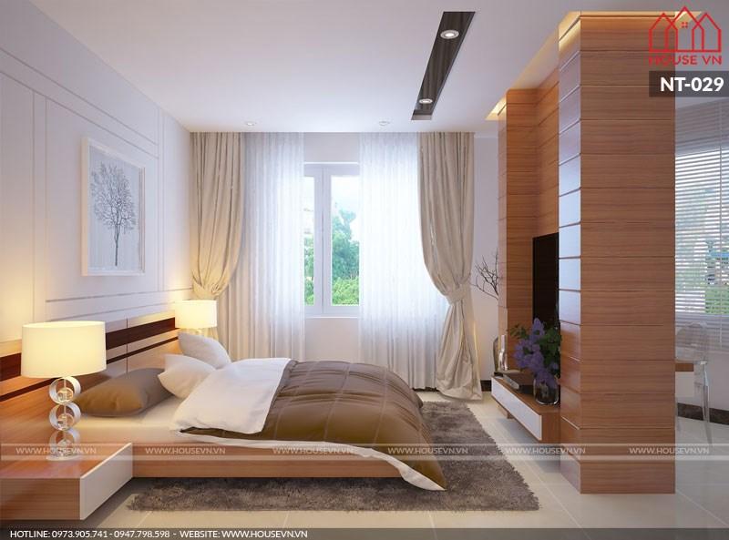 thiết kế nội thất phòng ngủ hiện đại đơn giản mà đẹp