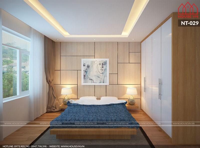 phòng ngủ dành cho cặp vợ chồng trẻ 9m2