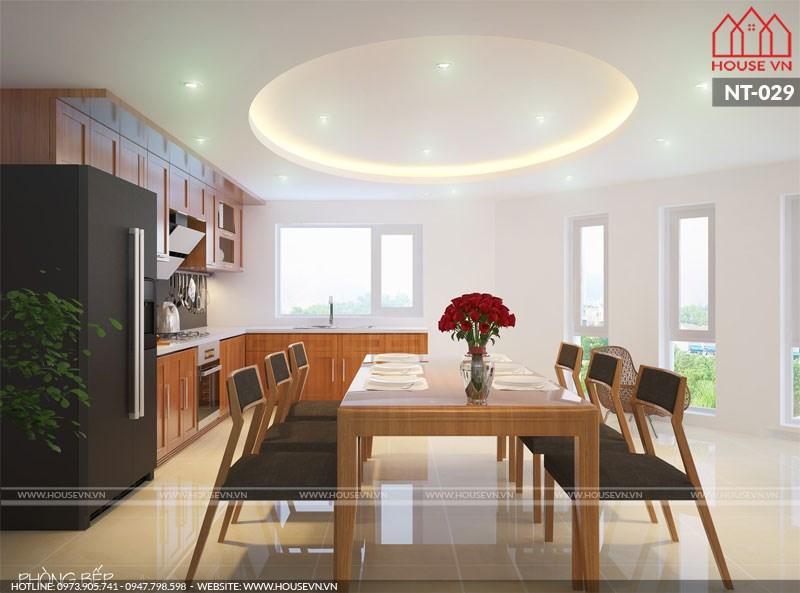 thiết kế phòng bếp đẹp hợp phong thủy