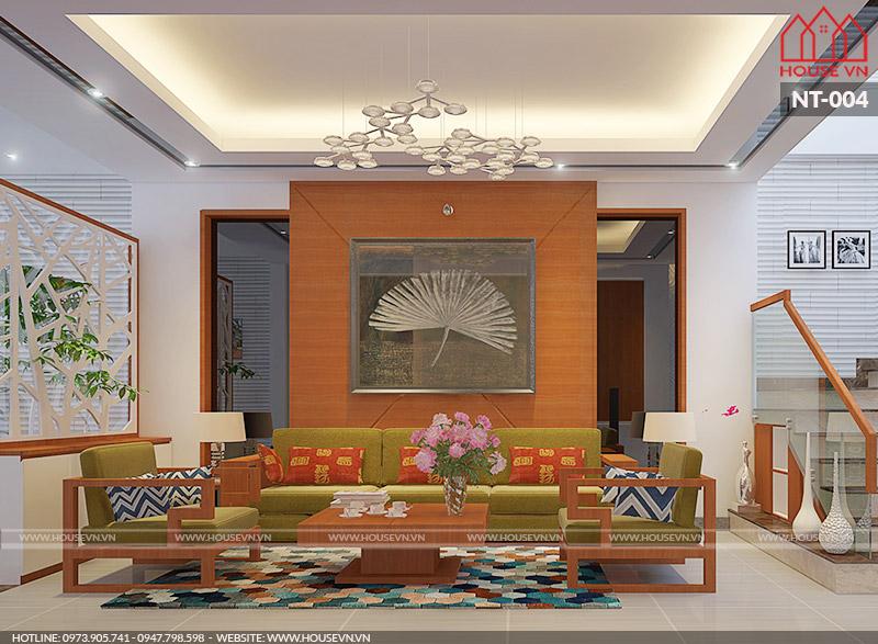 mẫu thiết kế nội thất phòng khách hiện đại đẹp
