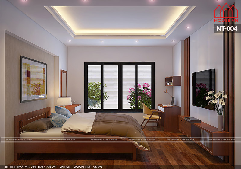 thiết kế phòng ngủ không nên đặt cây xanh trong nhà