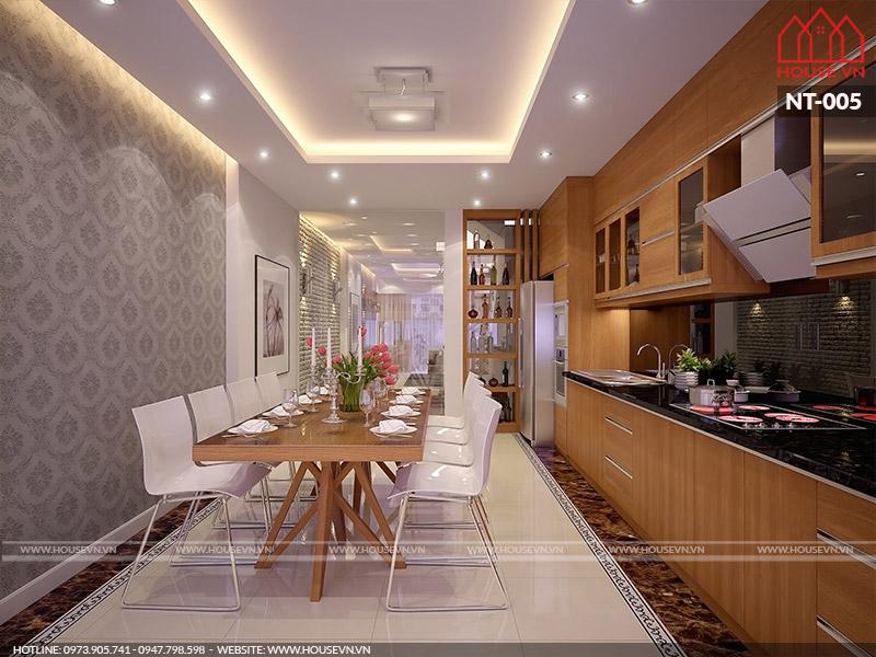 mẫu nội thất phòng ăn hiện đại ngăn nắp
