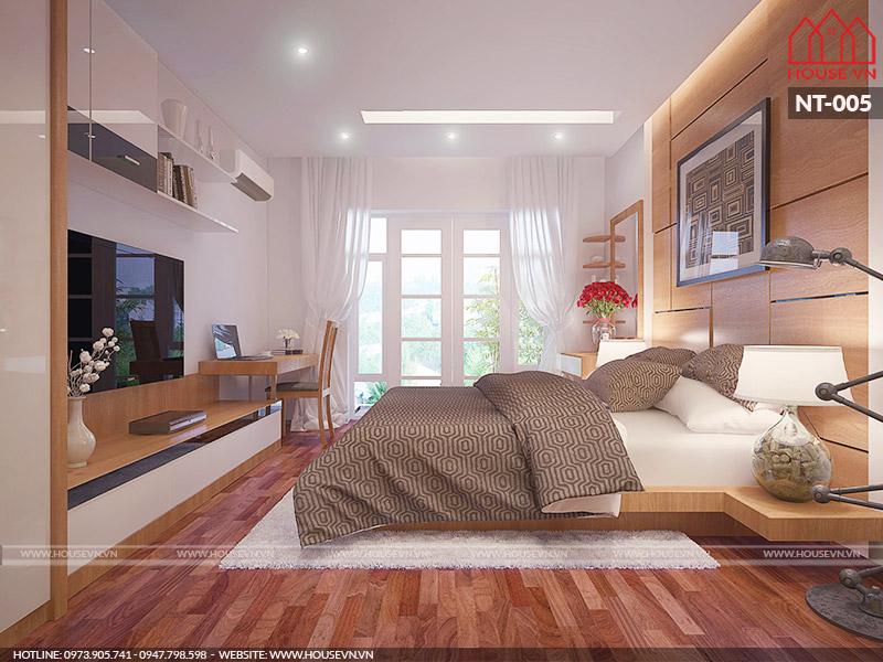 thiết kế nội thất phòng ngủ trẻ trung