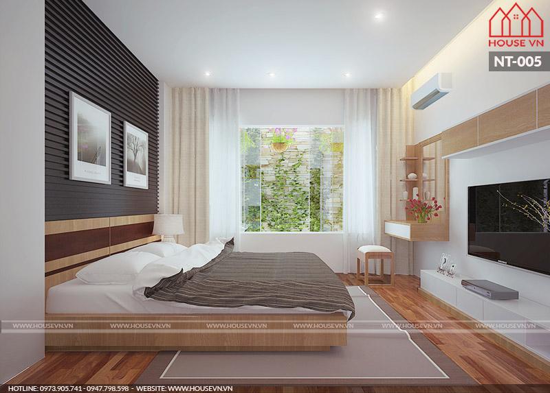 mẫu thiết kế nội thất phòng ngủ ấn tượng