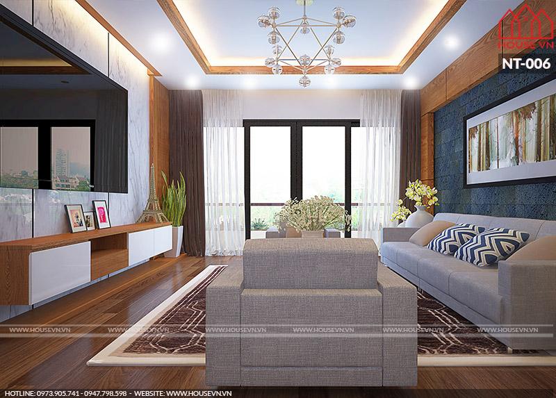 nội thất phòng khách chung cư đẹp hiện đại nhất