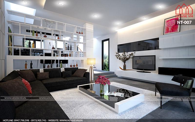 mẫu nội thất phòng khách hiện đại cá tính