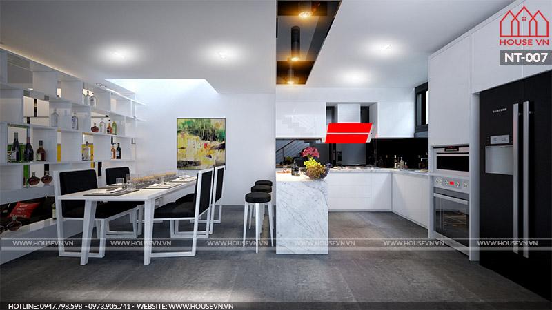 nội thất phòng ăn hiện đại đẹp cho nhà ống hiện nay