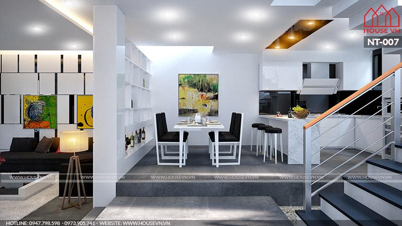nội thất bếp ăn tiện nghi sang trọng